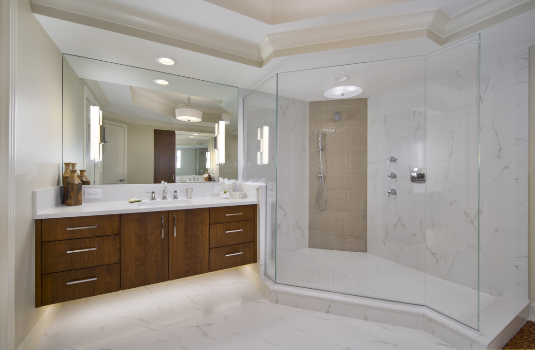 Condominium master bathroom remodel bonita springs fl for Master bathroom remodel