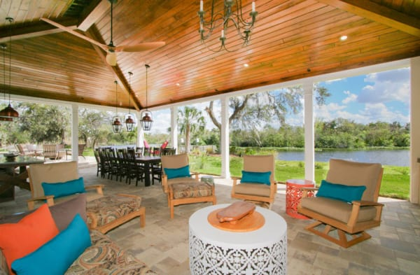 popular exterior renovation outdoor living area