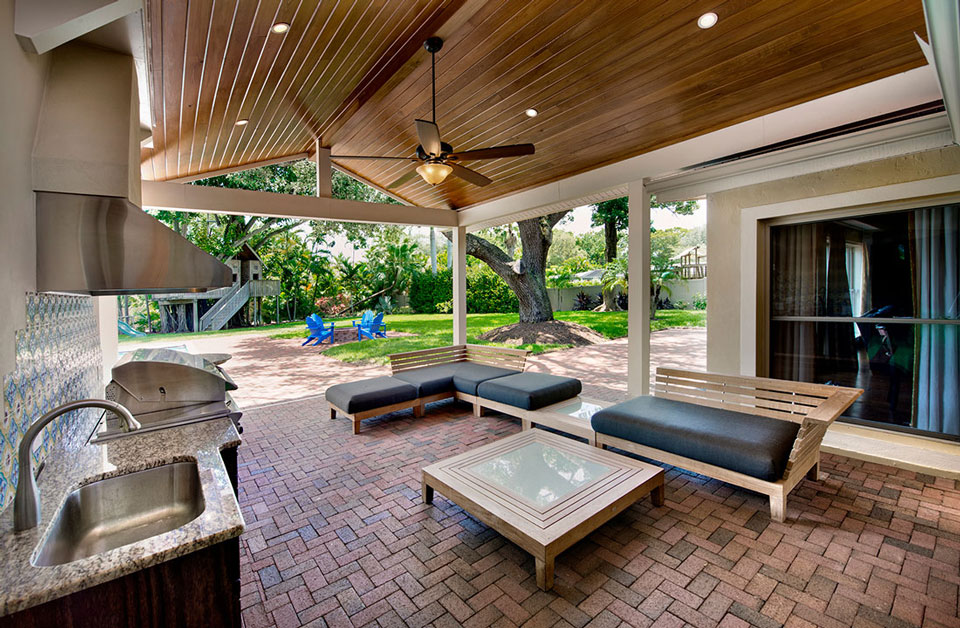 Outdoor Kitchen & Patio in Southwest Florida by Progressive Design Build