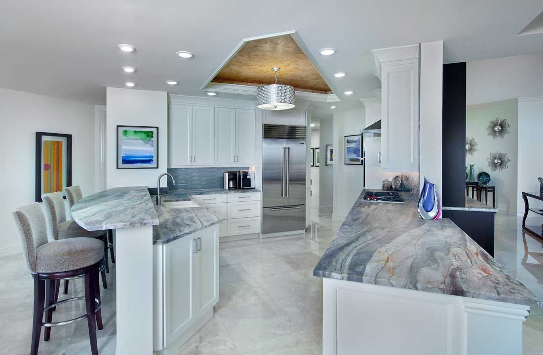 Contemporary Condo Kitchen Remodel in Bonita Bay